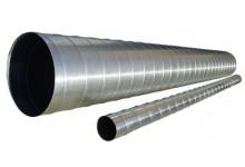 Спирально-навивной воздуховод D=100мм, 365.00 р., Воздуховоды круглые